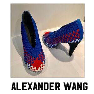 Alexander Wang Carla elastic woven heels